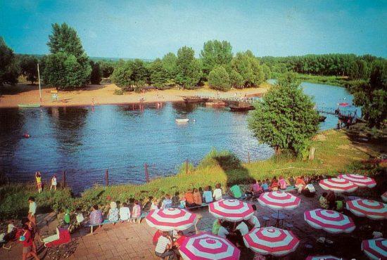 Ośrodek sportów wodnych nad Wartą. 1975, fot. A. Stelmach)
